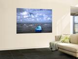 Fishing Boat on Caribbean Coast under Cloudy Sky