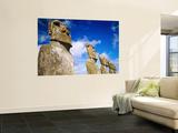 Moai at Ahu Akivi  Easter Island  Valparaiso  Chile
