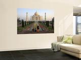 Visitors Taking Photos of Taj Mahal