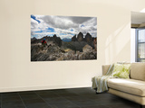 "Climber on ""Cima Dei Scarperi"" Peak Looking Out to Paterno Peaks"
