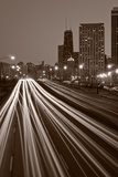 Chicago's Lake Shore Drive BW