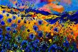 Blue Cornflowers 756 Reproduction d'art par Pol Ledent