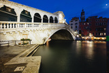 Rialto Bridge At Night  Venice  Italy