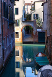 Reflection in a Canal  Venice  Italy