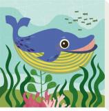 Ocean Friends, Walter Tableau sur toile par Jenn Ski