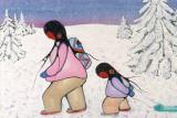 Winter Walk Reproduction d'art par Cecil Youngfox