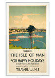 Isle of Man for Happy Holidays  LMS  c1923-1947