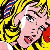 Fille au ruban, vers 1965 Reproduction d'art par Roy Lichtenstein