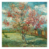 Pêcher en fleurs (Souvenir de Mauve) (Détail) Reproduction d'art par Vincent Van Gogh