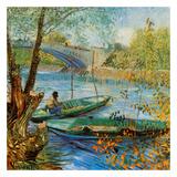 La pêche au printemps, pont de Clichy Reproduction d'art par Vincent Van Gogh