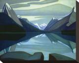 Lac Maligne, parc Jasper Tableau sur toile par Lawren S. Harris