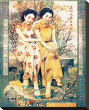 Dame de Shanghai - Deux femmes fleuries Tableau sur toile