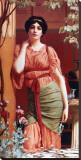 Nerissa Tableau sur toile par John William Godward