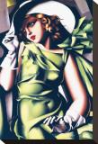 Jeune fille en vert Tableau sur toile par Tamara De Lempicka