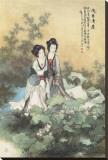 Femmes et fleurs de lotus Tableau sur toile
