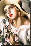 Portrait d'Une Jeune Fille Tableau sur toile par Tamara De Lempicka