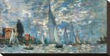 Les barques, régates à Argenteuil Tableau sur toile par Claude Monet