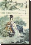 Femme près d'un tigre Tableau sur toile