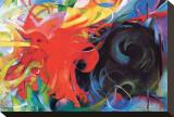 Lutte abstraite Tableau sur toile par Franz Marc