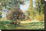 The Parc Monceau, Paris, c.1876 Tableau sur toile par Claude Monet