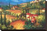 Village de Vinci Tableau sur toile par Per Mattin