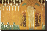 Here's a Kiss to the Whole World, Beethoven Frieze (detail), 1902 Tableau sur toile par Gustav Klimt