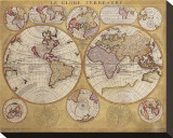 Antique Map  Globe Terrestre  c1690