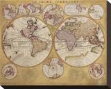Antique Map, Globe Terrestre, c.1690 Tableau sur toile par Vincenzo Coronelli