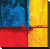 Composition abstraite en bleu Tableau sur toile par Carmine Thorner