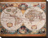 Carte géographique ancienne Tableau sur toile par Henricus Hondius