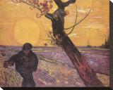 Le semeur au soleil couchant Tableau sur toile par Vincent Van Gogh