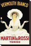 Martini & Rossi Tableau sur toile par Marcello Dudovich