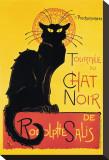 Chat Noir Tableau sur toile par Théophile Alexandre Steinlen