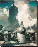 New York Central System Tableau sur toile