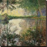 Pond at Montgeron, c.1876 Tableau sur toile par Claude Monet
