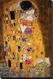 Le Baiser, vers 1907, détail Tableau sur toile par Gustav Klimt