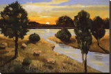 A Day Ending at the Lake Tableau sur toile par Judith D'Agostino