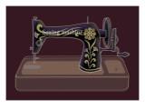 Sewing Machine in Purple