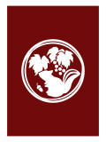 Family Crest Style Burgundy
