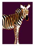 Zebra in Purple Vertical