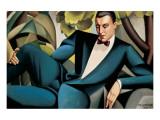 Portrait du Marquis d'Afflitto Giclée premium par Tamara De Lempicka
