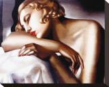 La Dormeuse Tableau sur toile par Tamara De Lempicka