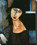 Jeanne Hebuterne Tableau sur toile par Amedeo Modigliani
