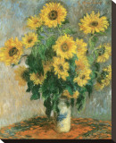 Les tournesols, vers 1881 Tableau sur toile par Claude Monet
