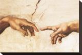 La création d'Adam Tableau sur toile par Michelangelo Buonarroti