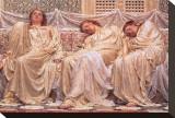 Rêveurs Tableau sur toile par Albert Moore