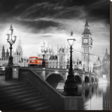 Autobus à impériale de Londres III Tableau sur toile par Jurek Nems