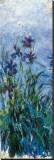 Iris Mauve (detail) Tableau sur toile par Claude Monet