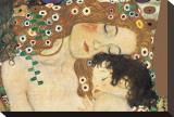 Mère à l'enfant Tableau sur toile par Gustav Klimt