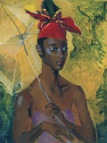Femme au parasol Reproduction d'art par Boscoe Holder